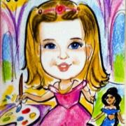 חג פורים פוסטר ציור לילדה
